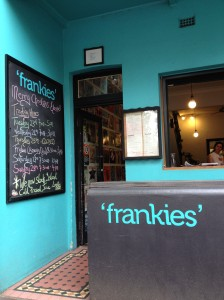 Frankies breakfast joint in Newcastle.