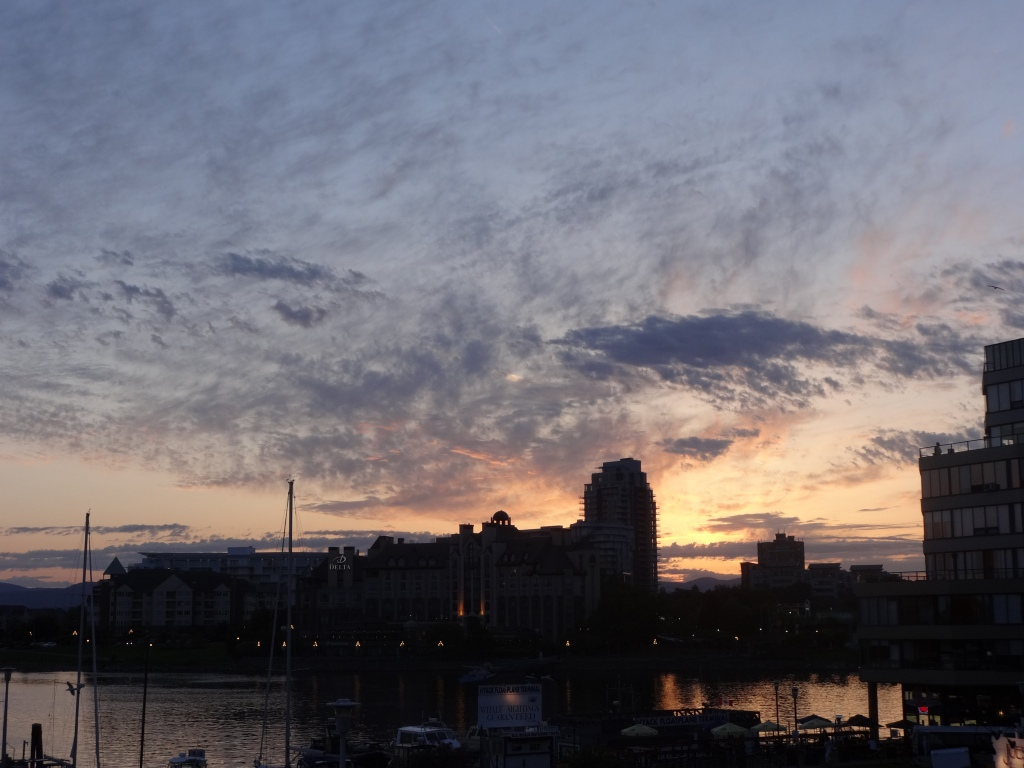 Sunset in Victoria Inner Harbour