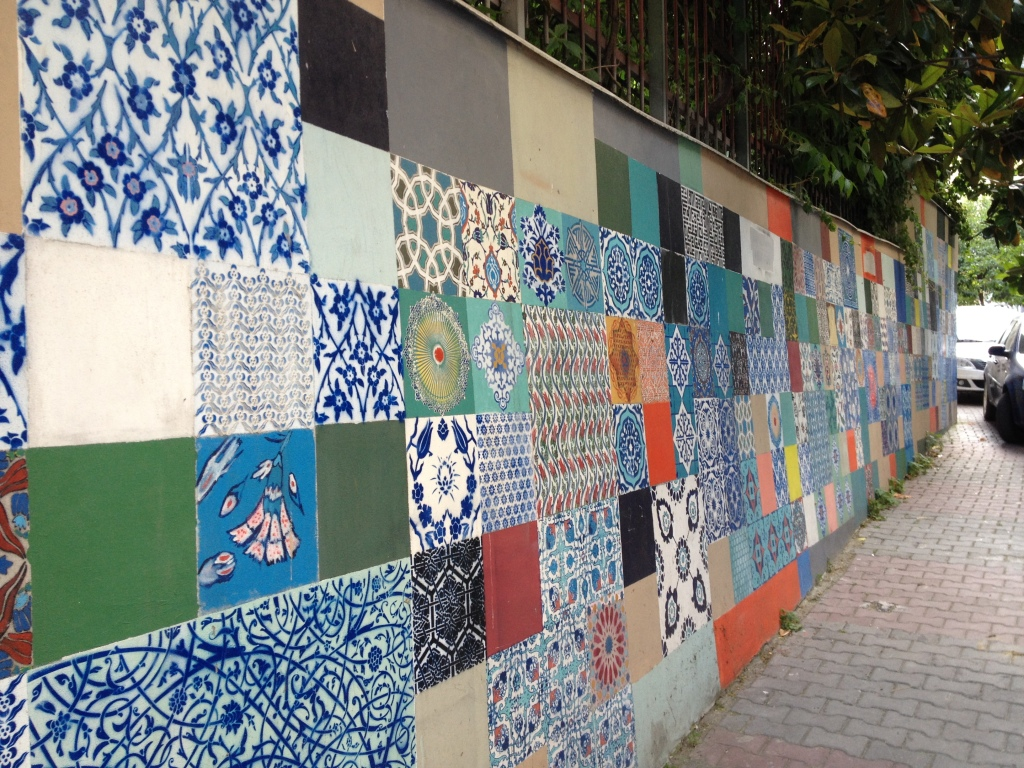 Beautiful tiles near our apartment.