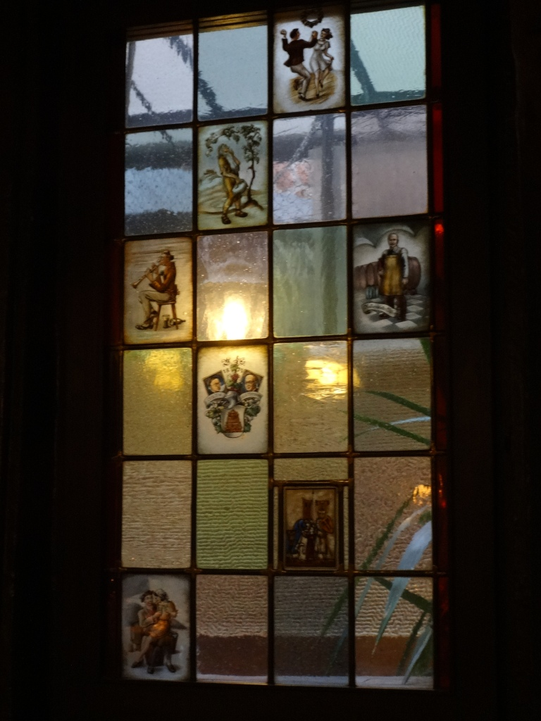 Stained glass window at Schnitzelbank