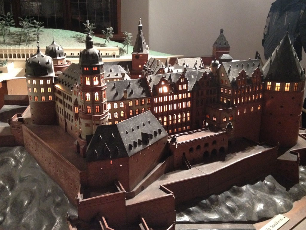 Miniature model of the castle.