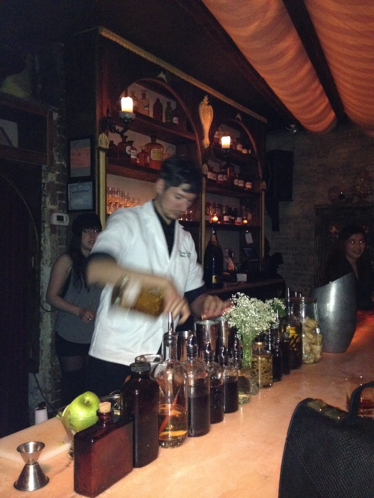A chemist brewing magic at Apotheke