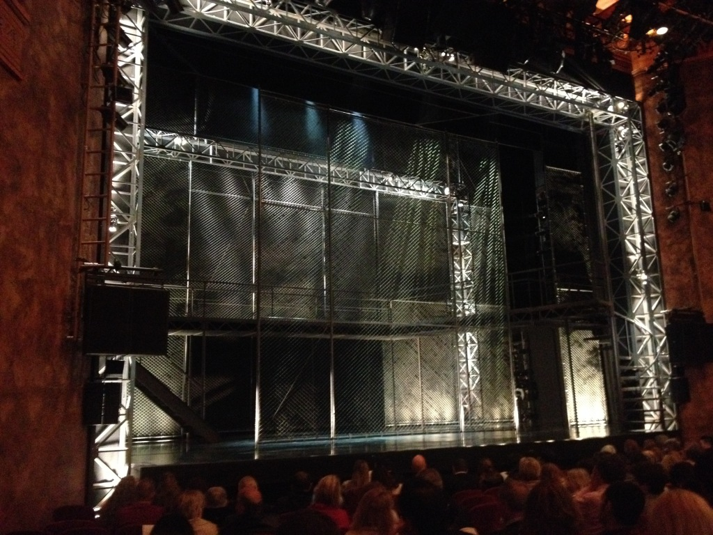 Waiting for Jersey Boys to start